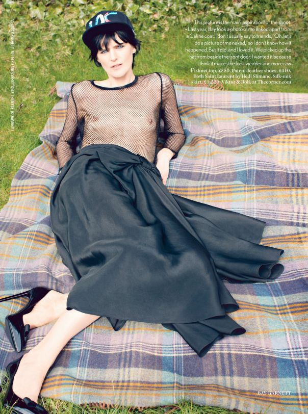Picnic in the park. Inspiration.     Stella Tennant by Bay Garnett for Vogue UK July 2013 Blowdryonthefly.com