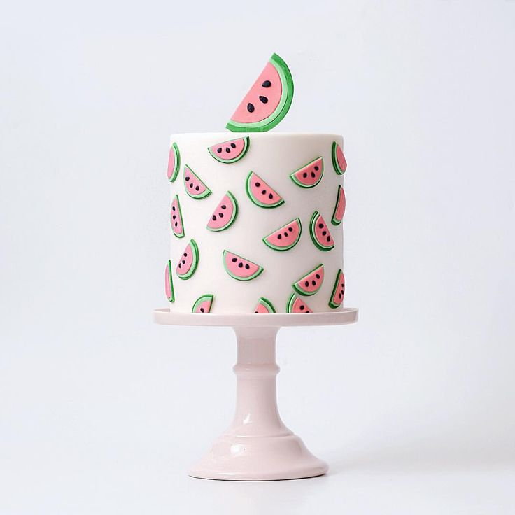 The sweetest watermelon cake for your watermelon party!