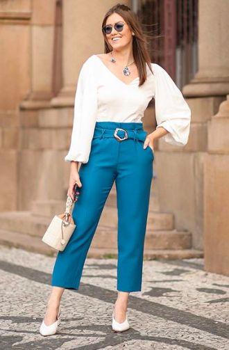Vitória Portes https://www.youtube.com/VITORIAPORTES | Look social feminino, Roupas essenciais, Moda colorida