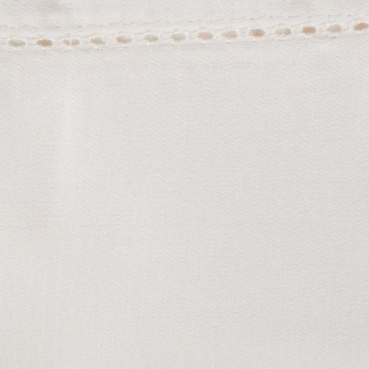 Elite Home Products Hemstitch 400 Thread Count Cotton Sheet Set Ivory - 400SSTW102HMST