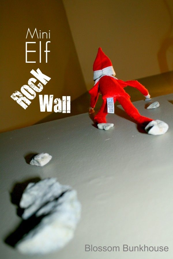 Mini Elf Rock Wall - our little spider monkey would LOVE this!