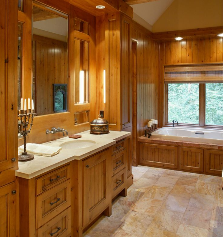 106 best images about homes with stunning bathroom sinks for Arts and crafts bathroom ideas