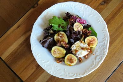 ... Baby Greens, Goat Cheese and Candied Pecans dressed in Honey and