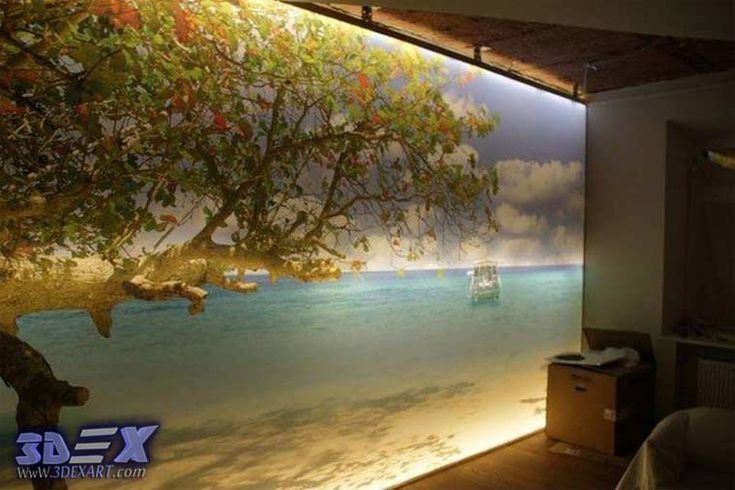 New 3D wallpaper designs for wall decoration in the home, wallpaper with led lighting