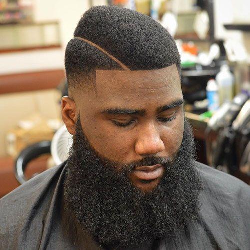 Box Fade + Shape Up + Long Beard