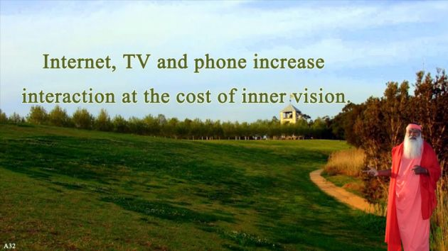 Internet, TV and phone increse interaction at the cost of inner vision