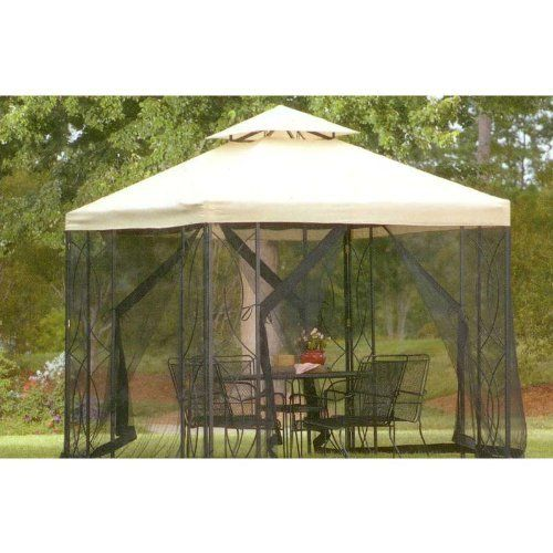 ULTRA GRADE - 8' X 8' Replacement Canopy for Lowe's Garden Treasure 8'x8' Gazebo by Garden Winds. $149.99. ULTRA GRADE FABRIC is made from an industry leading 600-Denier Fabric, almost twice as thick as factory originals.. This canopy has been custom designed for your S-582-D and A-582-DN gazebos (both 8' x 8'), the fit is as good, if not better, than the original.. Do not purchase an 8' x 8' UNIVERSAL canopy, as it will not fit your gazebo properly. An improper fit will...