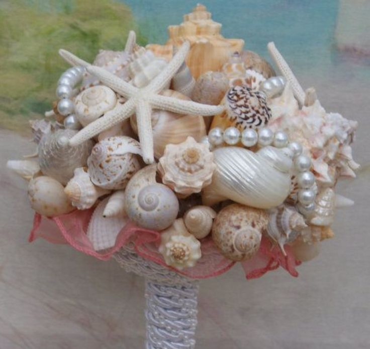 Seashell Wedding Bouquet Heart Of The Ocean For Beach Seaside Destination Cruise Summer