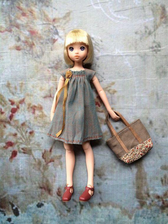 Summer Holiday set for Ruruko dolls - Joni Dress by moshimoshi studio