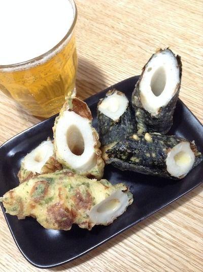ハロウィーンパーティーの余波で手抜き料理 「ちくわの磯辺揚げ〜2種 ...
