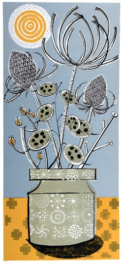 Totem lithograph by Angie Lewin