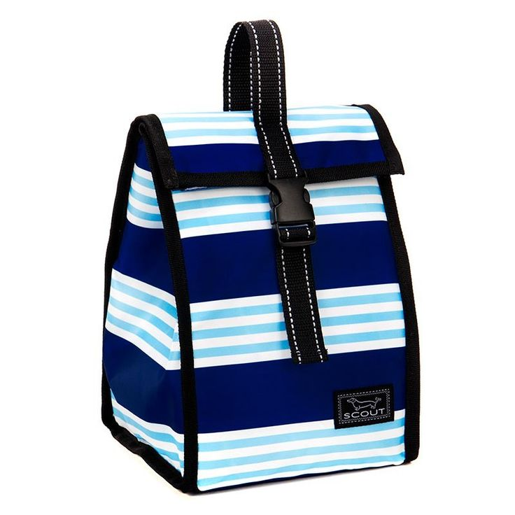 Monogrammed Scout Lunch Box - Blue Stripes