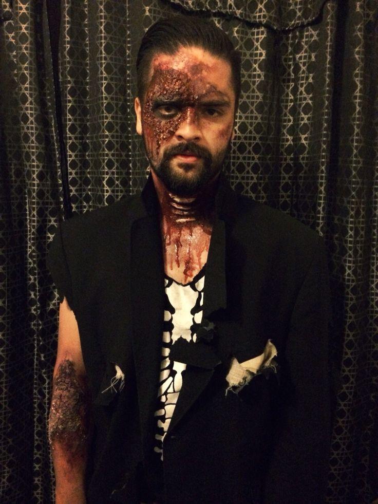 #halloween #makeup #zombie  #facepaint