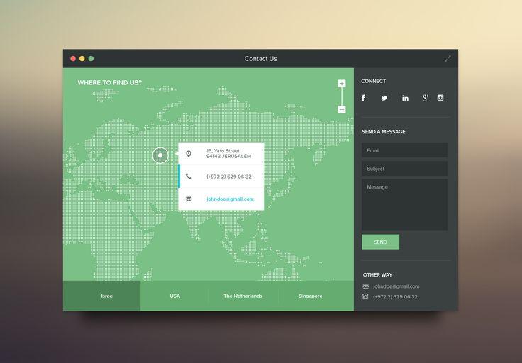 Contact Website | #flatui #webdesign #ui