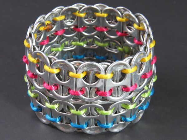 Great statement piece for any age!  Check out our recycled pop-tab bracelets - various colors available . Izamal Pop Tab Bangle -  $20