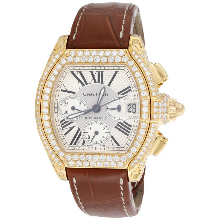 This Iced Out 18K Cartier Roadster XL Diamond Watch is easlily on of the best watches we've ever touched! We bring it to you at 60% off ✌️   https://jewelry4lessatl.com/v0-2619-18k-xl-roadster/ . . . . #watches #atlanta #vintage #diamonds #jewelry #gold #shopping #class #style #fashion #gems #watches #welcometoatlanta #onlineshopping #bling #luxury #atlantamade #ice #icedout #key #lifestyle #blessed #love #gifts #customjewelry #jewelryofinstagram #cartier #roadster #leather