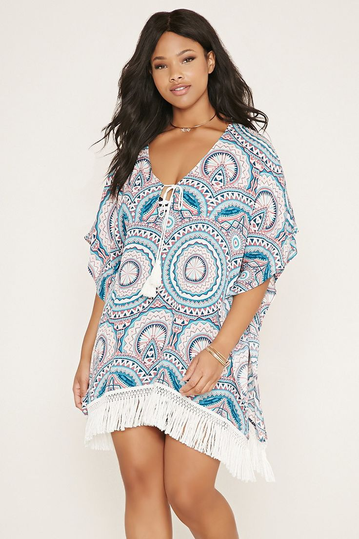 Plus Size Geo Print Cover-Up | Forever 21 PLUS - 2000169685