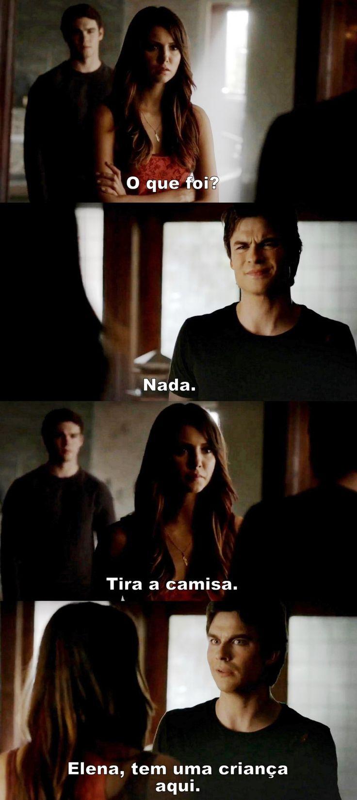 Diários de um vampiro 4x23 - Damon e Elena