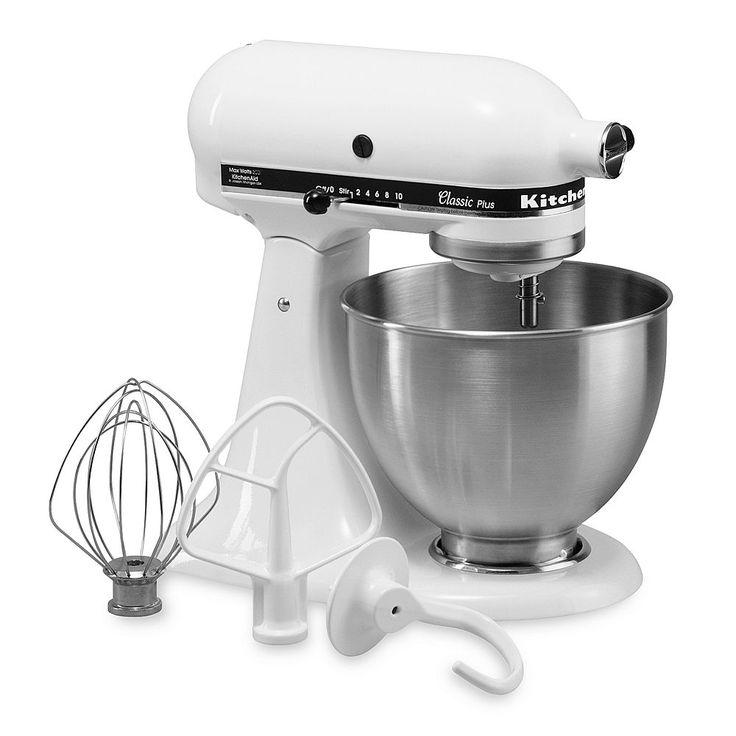 KitchenAid KSM75 Classic Plus 4.5-qt. Stand Mixer, White