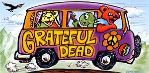 "Grateful Dead - Tour Bus Sticker - $4.00  The bus came by and i got on... Look for this tour bus rolling up to a show near you. This bumper sticker can go anywhere and it is officially licensed Grateful Dead merchandise. Measures 4"" x 8""."