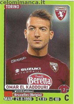 Calciatori 2014-2015: Fronte Figurina n. 488 Omar El Kaddouri