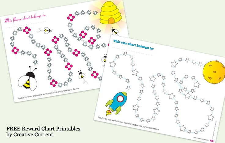 Free Printable Incentive Charts | Reward Charts by Creative Current