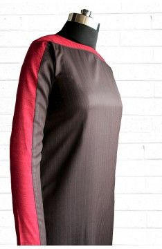 Short kurta - tunic :  The Luxury Label's Claret Collection for #indianofficewear #indianworkwear #Indianofficefashion #indianformals