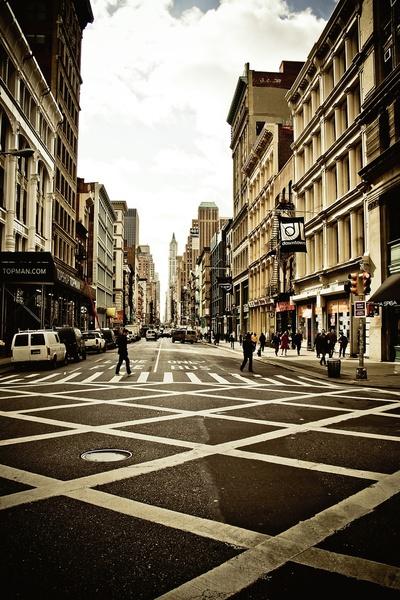 NYC. Broadway. Urban pattern