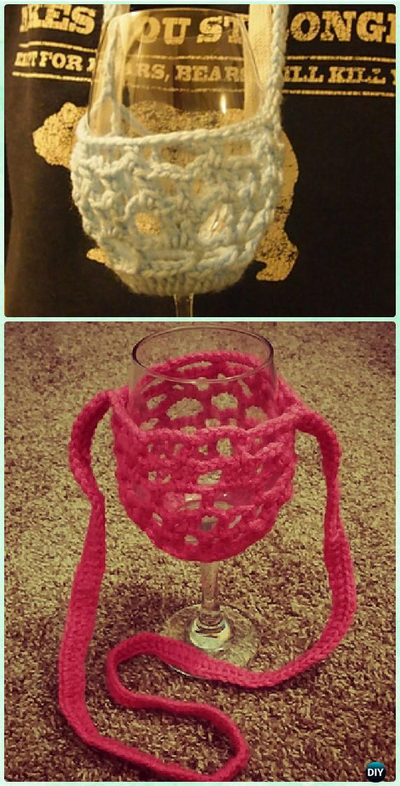 Free Pattern Crochet Wine Glass Holder : 17 Best ideas about Crochet Lanyard on Pinterest ...