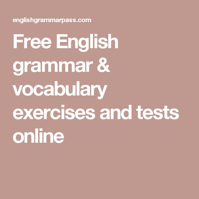 Free English grammar & vocabulary exercises and tests online