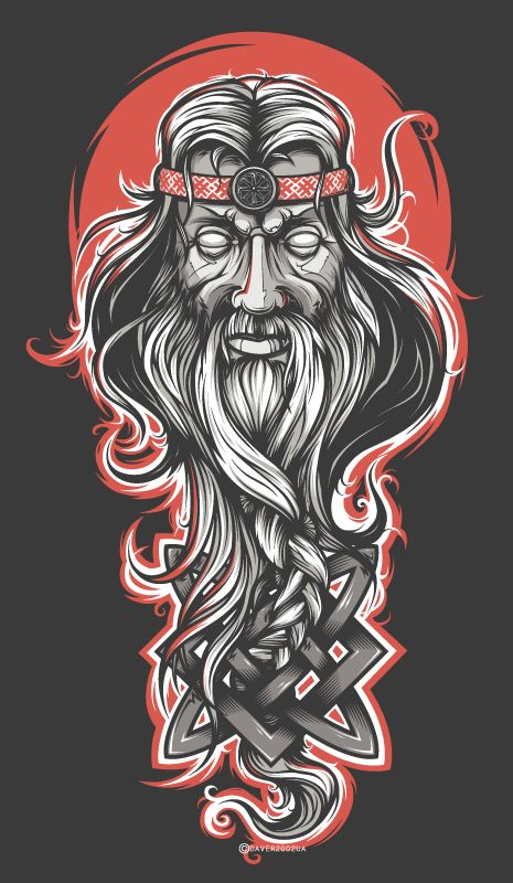 Svarog. Slavic sun and fire god.