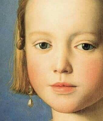 "Agnolo Bronzino. ""Portrait of Maria de Medici"" 1551"