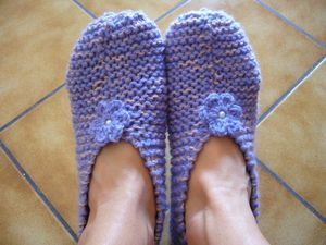 Tuto chaussons au tricot