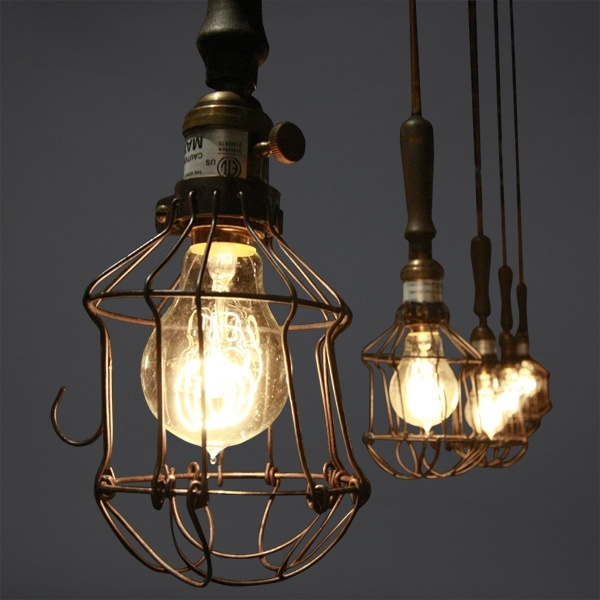 25 best images about industrial chic on pinterest for Suspension 3 lampes industriel