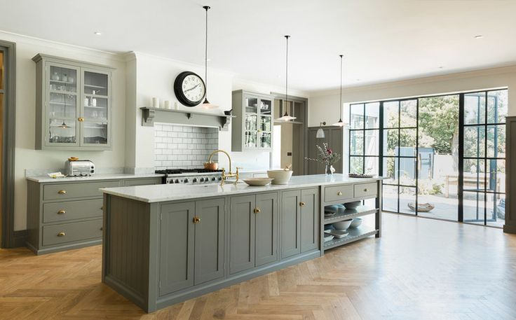 Olive kitchen decor is timeless http://www.houzz.com.au/photos/36212053/the-queens-park-kitchen-by-devol-transitional-kitchen-london