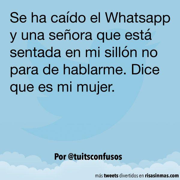 Se ha caído el Whatsapp. #humor #risa #graciosas #chistosas #divertidas