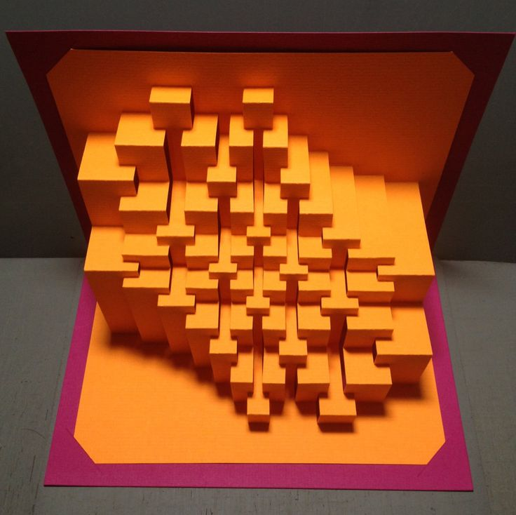 Trochoid Carré : kirigami paper sculpture by Ullagami on Etsy