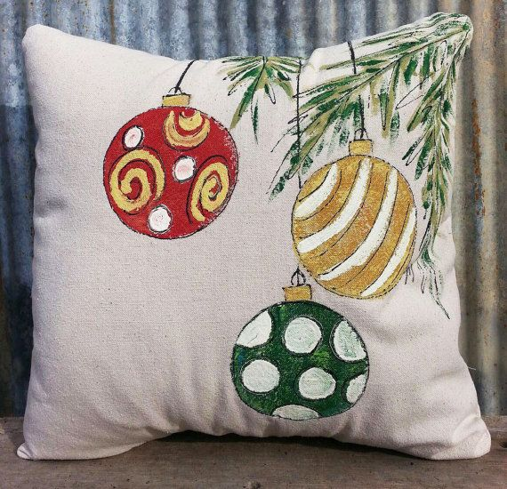 NEW Design Pillow Cover Christmas Ornaments by SippingIcedTea