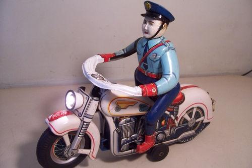 Details about Vintage Siren Patrol Motorcycle Japanese Modern Toys