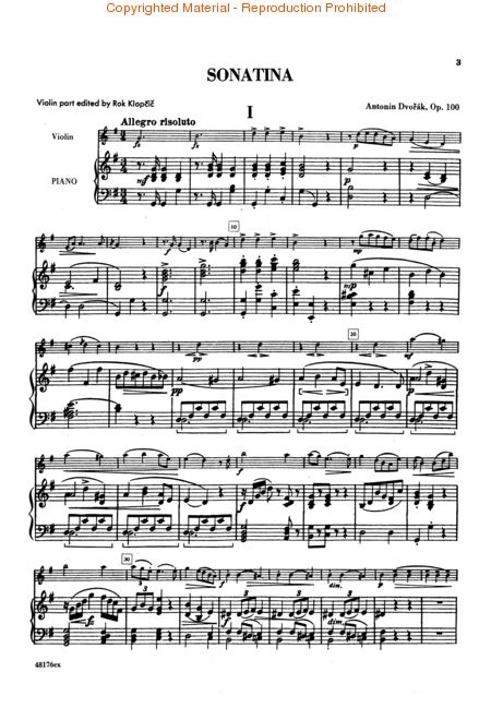 dvorak sonatina op. 100 for violin.  i love this so much.  and can actually still play it.