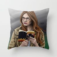 Throw Pillow featuring Amelia by Mascmallow