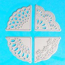 YLCD766 Encaje de Esquina de Metal Plantillas de Troqueles De Corte Para Scrapbooking DIY Álbum Decoración Carpeta de Grabación En Relieve Tarjetas De Papel Troqueles Herramienta(China (Mainland))