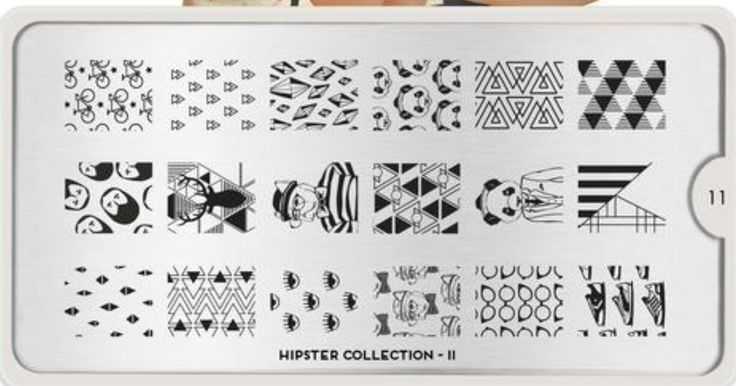 Moyou London Hipster 11 bicycles triangles diamonds sims plumbob pandas in hats beards mounted deer heads pugs in people clothes bear in a suit stripes eyes glasses sneakers nail stamping plate