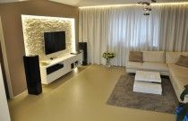 polyuretanová podlaha Flode Uno, obývací pokoj Brno