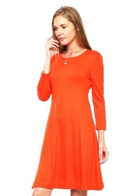 Vestido Naranja Manga Larga - Anna Flynn