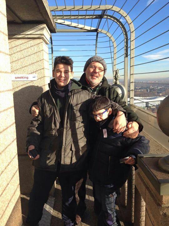 Turin, Mole Antoneliana whit my nephews Filippo and Attilio