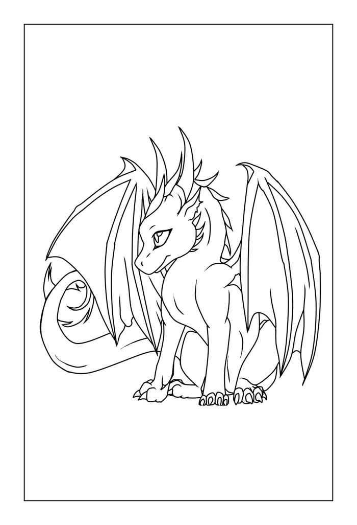 Free Cute Dragon Coloring Pages Di 2020