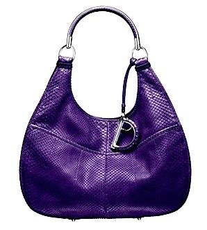 Love purple bags- this Dior bag is definitely in the dream category artichoke70