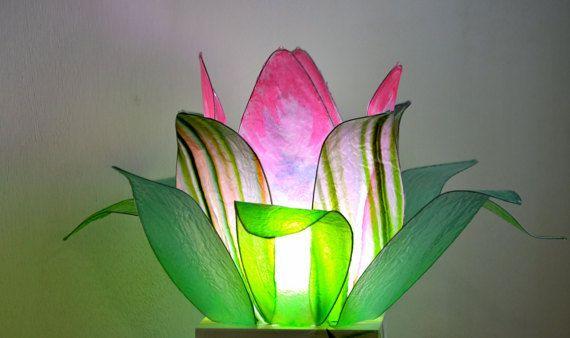 lampada loto fiore del lago di fiorediluce su Etsy