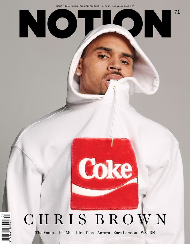 Chris Brown as one of our four cover stars for NOTION Magazine Issue 71